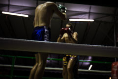 Out of focus of boxing, Low key Royalty Free Stock Images