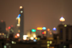 Out of focus capital city in Thailand Stock Photography