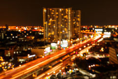 Out of focus capital city in Thailand Royalty Free Stock Image