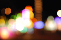 Out of Focus Carnival Lights Royalty Free Stock Images