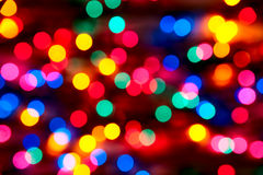 Out of focus Christmas lights Royalty Free Stock Photo