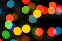 Out of Focus Christmas Lights Stock Images