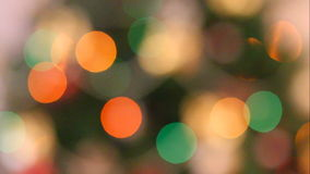 Out of focus christmas lights. Background stock footage