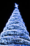 Out of Focus Christmas Tree Royalty Free Stock Photos