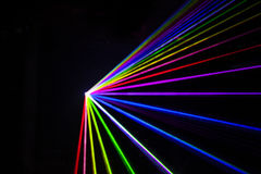 Out of Focus Colorful Laser Effect. Over a plain black background Royalty Free Stock Image
