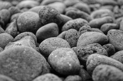 Out of Focus Grey Stones Detail Stock Photography
