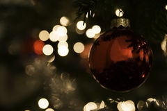 Out of focus highlights of christmas lights Stock Photos