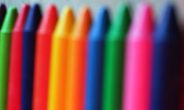 Out of focus image of oil pastel crayons Stock Image