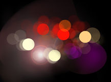 Out of focus lights. On dark background Royalty Free Stock Photos