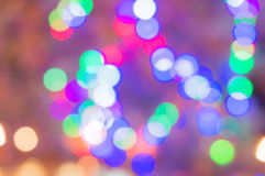 Out of focus lights for background. Out of focus multicolored lights to be used as a background or bckdrop Royalty Free Stock Photos