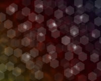 Out of Focus Lights during the Night. Hexagonal shape Stock Image