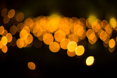 Out of Focus Lights during the Night Stock Image