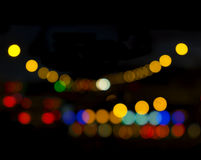 Out of Focus Lights during the Night Royalty Free Stock Photography