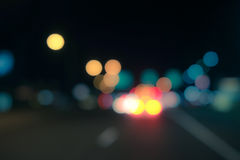 Out of focus lights Stock Image