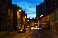 Out of focus picture of Edinburgh at night Stock Image