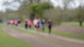 Out of focus runners