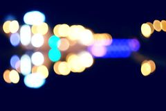 Out of focus shot of the street at night Royalty Free Stock Photos