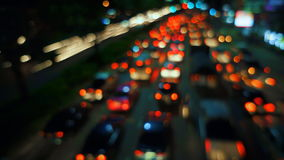 Out-of-focus timelapse traffic stock video footage