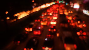 Out-of-focus timelapse traffic stock footage