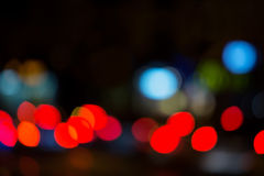 Out of focus traffic lights Stock Photo