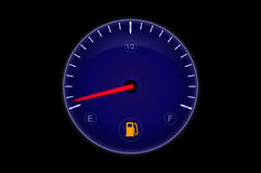Out of Fuel. Time for tanking - fuel display Royalty Free Stock Photo