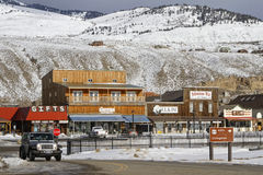 Out of Gardiner, Montana. GARDINER, MONTANA, January 22, 2017 : Gardiner, a town of Park County, Montana, United States, was officially founded in 1880, but the Stock Photo