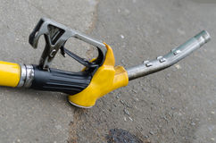 Yellow gas nozzle Royalty Free Stock Images