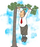 Out on a limb stock illustration