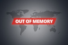 Out of Memory Message on Screen Stock Images