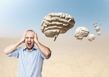 Out of my mind Royalty Free Stock Image