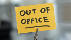 Out Of Office Stock Photo