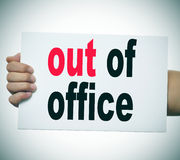 Out of office Royalty Free Stock Photo