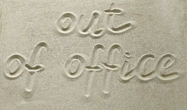 Out of office Royalty Free Stock Photography