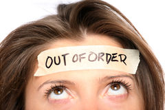 Out of order Royalty Free Stock Photography