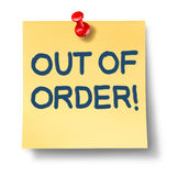 Out Of Order Royalty Free Stock Image