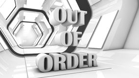 Out of order and futuristic corridor Royalty Free Stock Photography