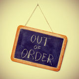 Out of order Royalty Free Stock Photos