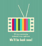 Out of order. Retro out of order TV background. EPS10 Royalty Free Stock Photo