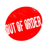 Out Of Order rubber stamp. Grunge design with dust scratches. Effects can be easily removed for a clean, crisp look. Color is easily changed Stock Images