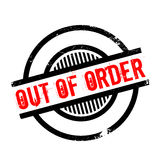 Out Of Order rubber stamp. Grunge design with dust scratches. Effects can be easily removed for a clean, crisp look. Color is easily changed Royalty Free Stock Image