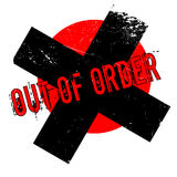 Out Of Order rubber stamp. Grunge design with dust scratches. Effects can be easily removed for a clean, crisp look. Color is easily changed Stock Image