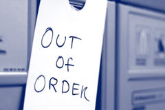 Out of order sign. Out of order. Help is on the way Royalty Free Stock Photos