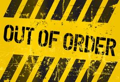Out of order sign,. Vector illustration Royalty Free Stock Images