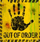 Out of order sign. Vector illustration