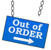 Out Of Order Signboard Royalty Free Stock Photos