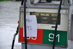 Out of petrol Royalty Free Stock Photography