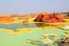 Dalol desert in Ethiopia stock image