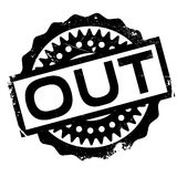 Out rubber stamp Stock Images