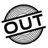 Out rubber stamp Royalty Free Stock Image