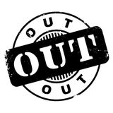 Out rubber stamp Stock Photo
